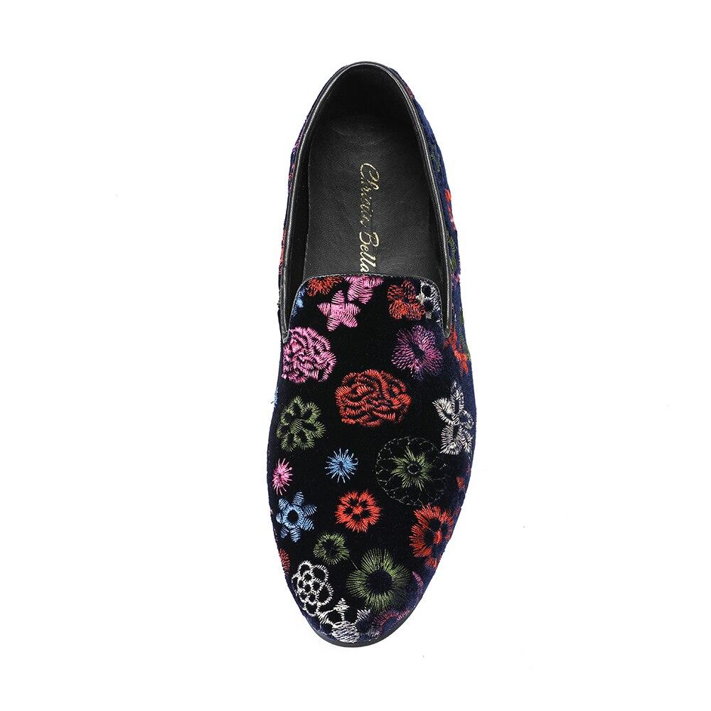 Flats Sobre Size Tamanho Festa Floral Da Plus Deslizar Preto Mais De Formal Bella Moda Christia Mocassins Casamento Banquete Homens Sapatos UnaAOZ0O