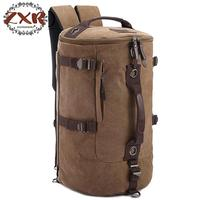 Classic New Men's Travel Bags Large Pure Cotton Canvas Backpack Fashion European And American Style Men's Travel Bags