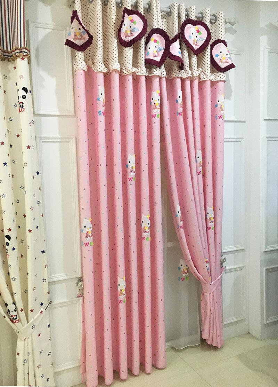 ventana cortina de la sala de nios del beb nios de la historieta azul cortinas pura nio embroma el dormitorio cortina cortin