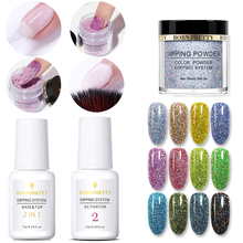 Get more info on the BORN PRETTY Dipping Nail Powder Set Base &Top 2 In 1 Gel Holographic Natural Dry Activator Gradient French Without Lamp Cure