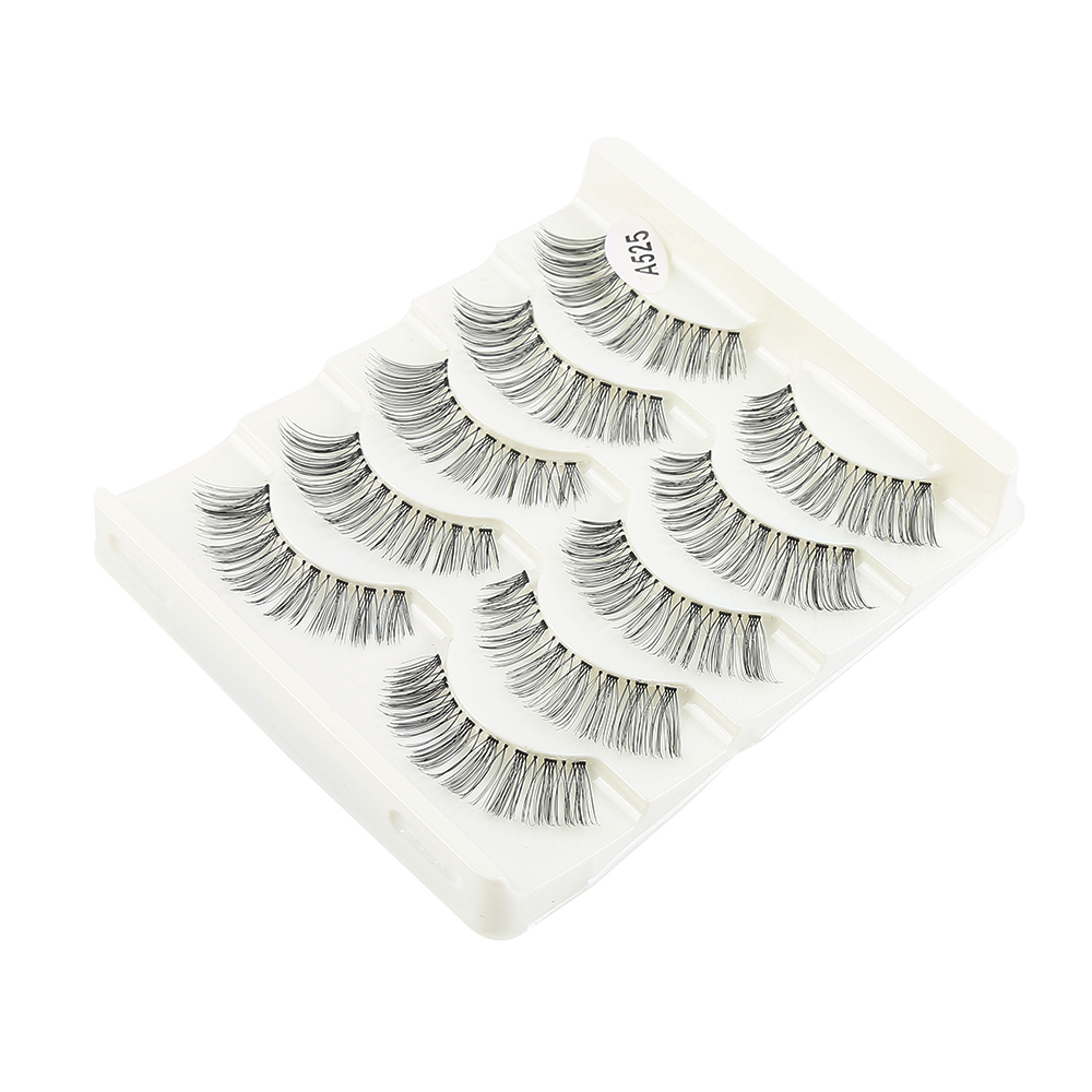 2017 Makeup Beauty Tools Accessories 5 Pairs Natural Sparse Cross Winged Eye Lashes Long False Eyelashes Extension Makeup Tool