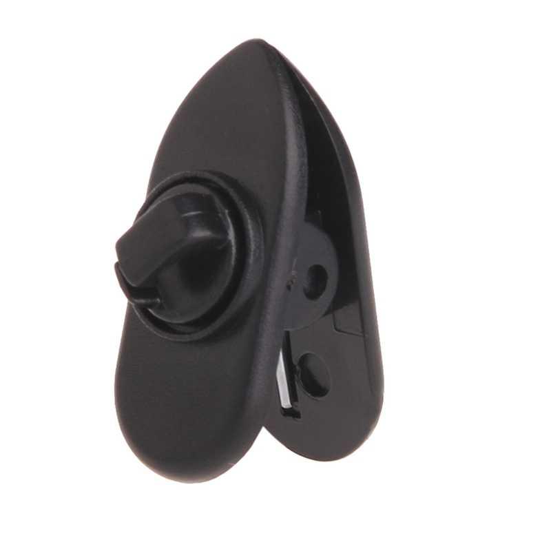 10Pcs/Set Cable Cord Clip Clamp Collar Lapel Shirt Holder For Headphone Earphone 10166