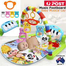 3 in 1 Educational Toys Baby Play Mat Kids Rug Educational Puzzle Carpet With Piano Keyboard And Cute Animal Playmat Baby Gym(China)