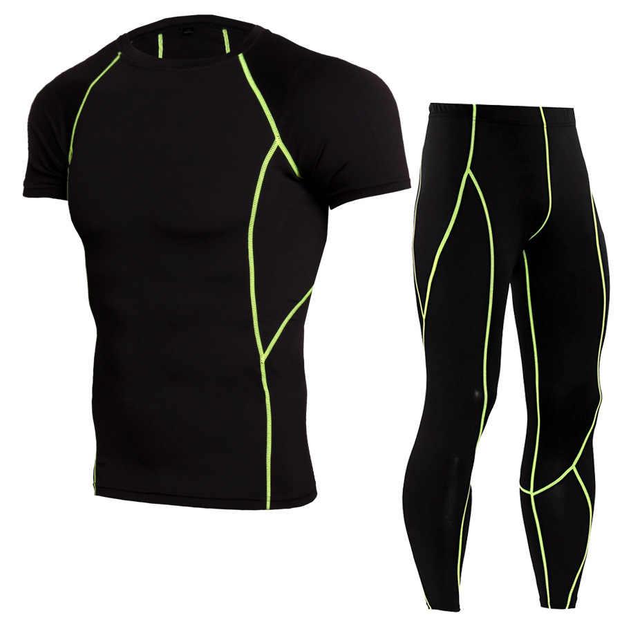 4f7976a71595e 2018 nuevo chándal de compresión Fitness ropa deportiva ajustada juego de correr  camiseta Leggings ropa deportiva