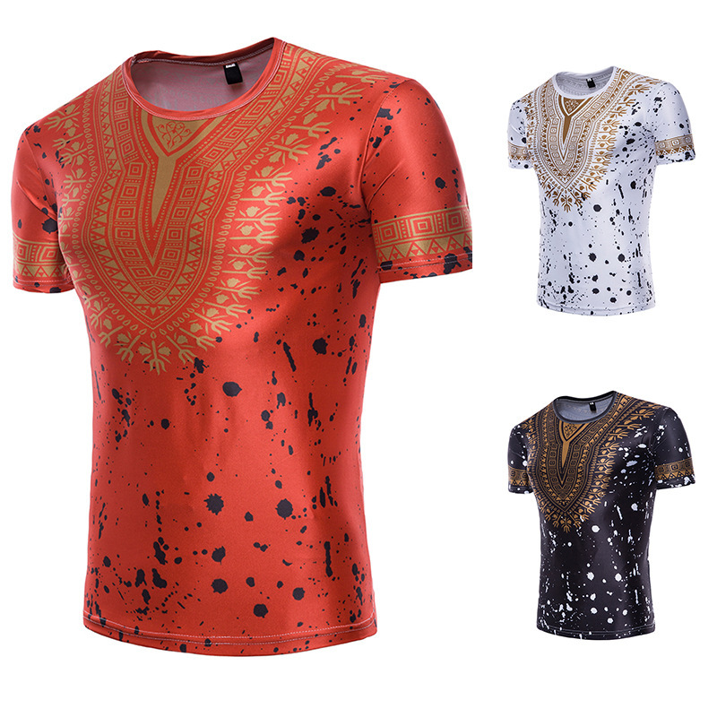 2019 New Fashion Style African Men Dashiki T-shirt