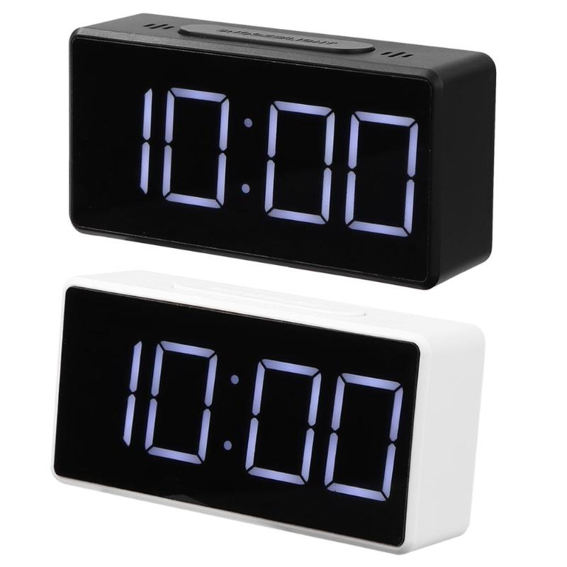 LED Digital Voice Control Alarm Clock Thermometer Desktop Snooze Table Clock Free Switching Celsius And Fahrenheit Display