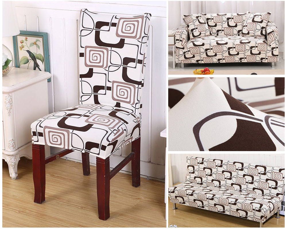 1246PCS Geometry Spandex Chair Cover Dining Washable slipcover for seat Elastic Kitchen Chair Covers Stretch Furniture Covers (3)
