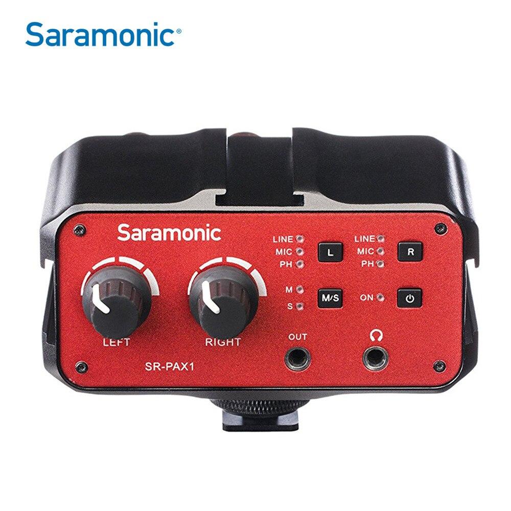 Saramonic Pax1 Audio Mixer Preamp Microphone Adapter Dual Xlr 6.3mm 3.5mm Inputs For Iphone 7 Smartphone Guitar Dslr Camera Professional Design