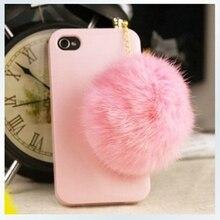 Classic Big Hair Ball Mobile Phone Dust Plug Headphones Hole
