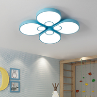 Modern LED Ceiling lights for living room study Cute Mickey Mouse Design indoor lighting blue pink white Ceiling Lamp led strip