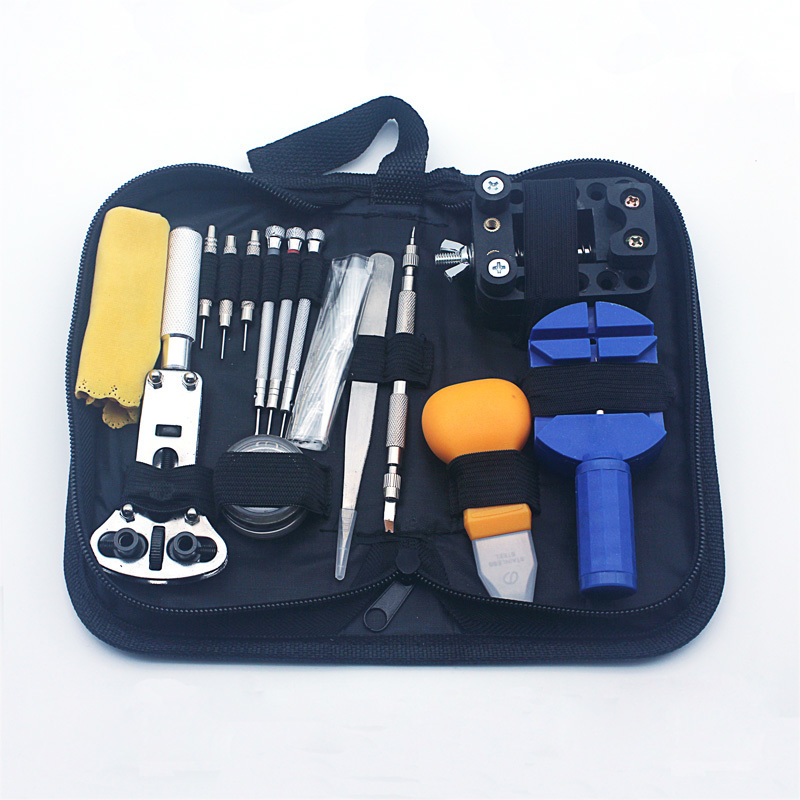 Watch Tools Watch Repair Tool Kit Set Watch Opener Link Spring Bar Remover Tools Screwdriver Set Link Pins Cleaning Cloth