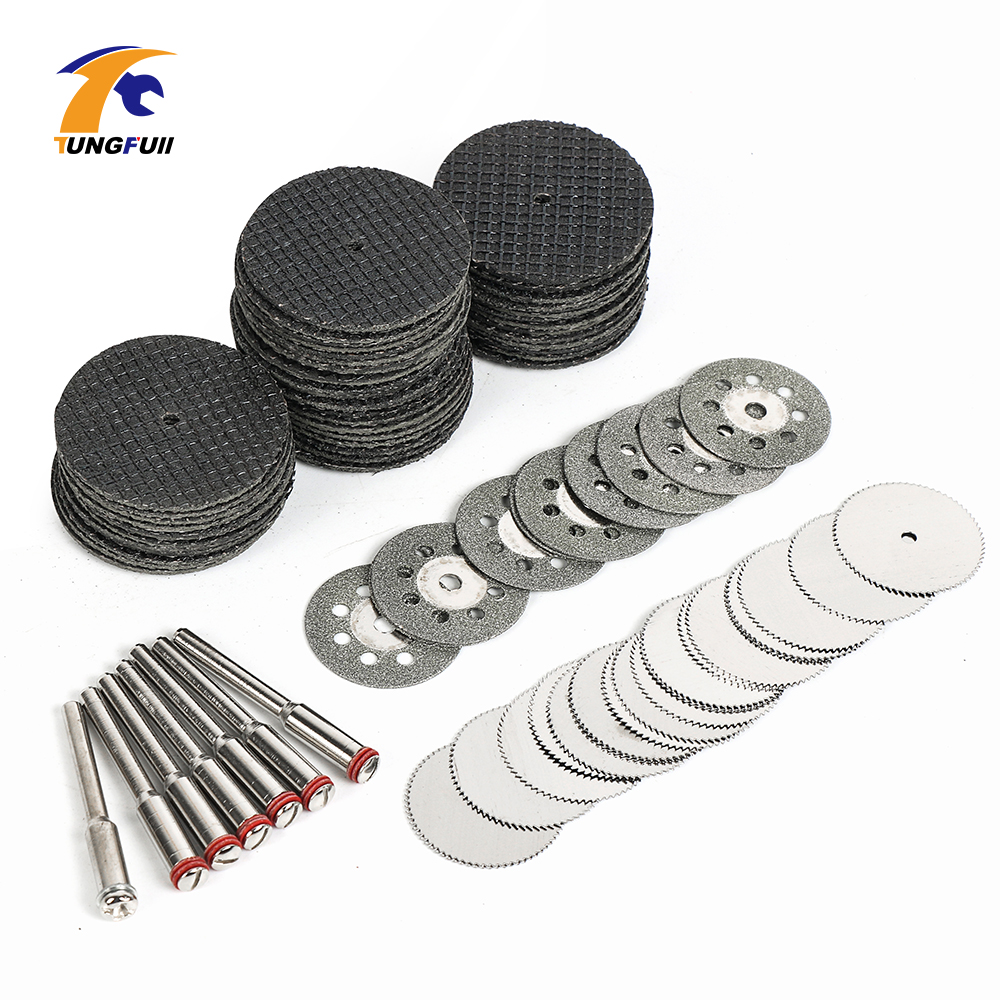 87pcs Mini Cutting Disc For Rotory Accessories Diamond Saw Blade Silver Cutting Discs For Rotary Tool Kit Cut Off Wheel