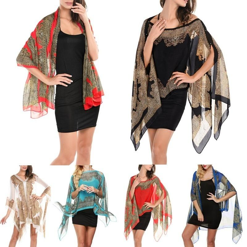 1pc Women's Lady's Long Soft Chiffon Neck   Scarf     Wrap   Shawl Stole   Scarves   Beachwear