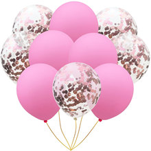 Rose Gold Confetti Latex Balloons Pink Party Balloons Wedding Decorations
