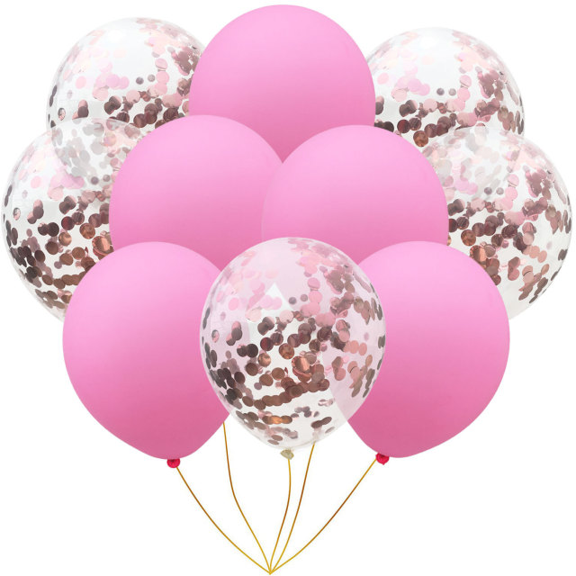 Mixed Confetti Latex Balloons Set
