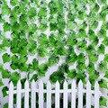 2 м 30 шт листья искусственный Плющ висячая гирлянда цветы лоза для DIY дома свадьбы цветочные стены сад забор Декор