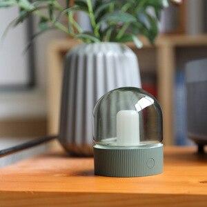 Image 5 - 빈티지 유리 야간 조명 USB 충전 레트로 향수 데스크탑 전구 분위기 호흡 Dimmable Nightstand 램프 침실 Decro