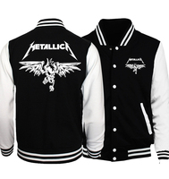 2017 Spring New Fashion Baseball Uniform Classic Heavy Metal Metallica Rock Print Men Hip Hop Punk