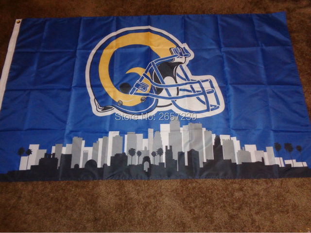 2ed59e1b Los Angeles Rams Skyline flag 3x5FT NFL banner150X90CM 100DPolyester brass  grommets custom flag, Free Shipping-in Flags, Banners & Accessories from ...