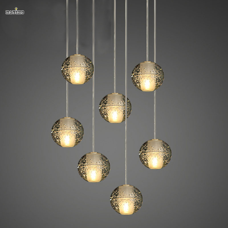 Modern Magic Ball Led Crystal Bubble Glass Pendant Light For Dining Room Globe Hotel Project Lamp Meteor Shower Lights Fixtures In From