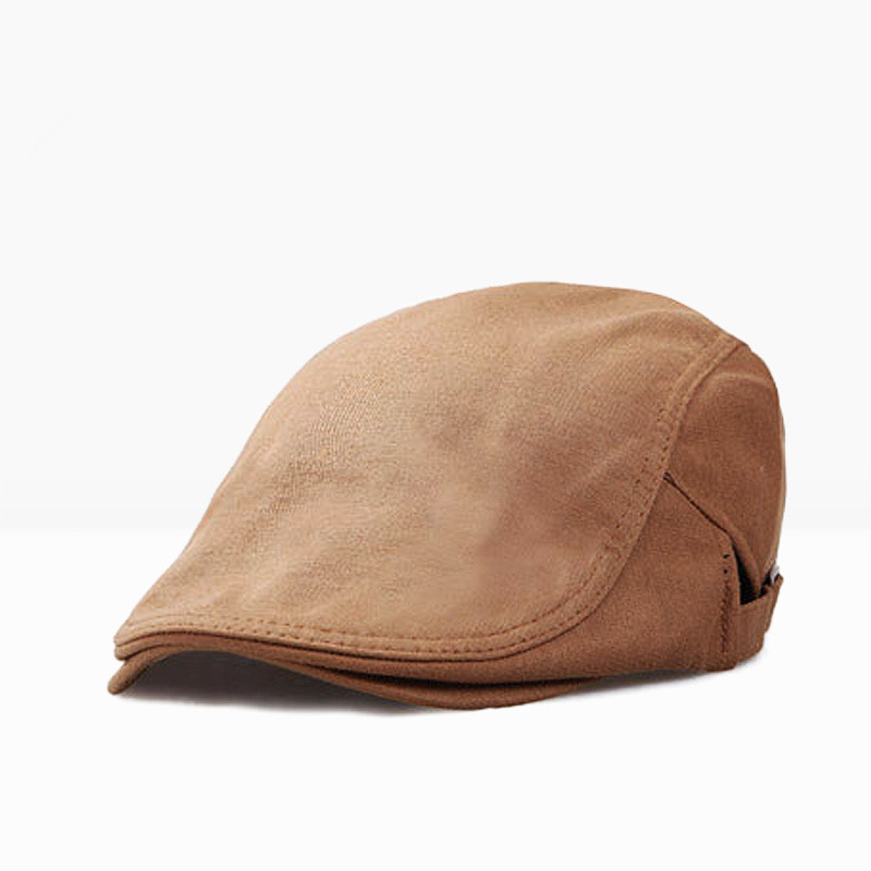 PADEGAO Fashionable men beret casual hat soft comfortable solid color cotton outdoor breathable sun hat can adjust the size in Men 39 s Visors from Apparel Accessories