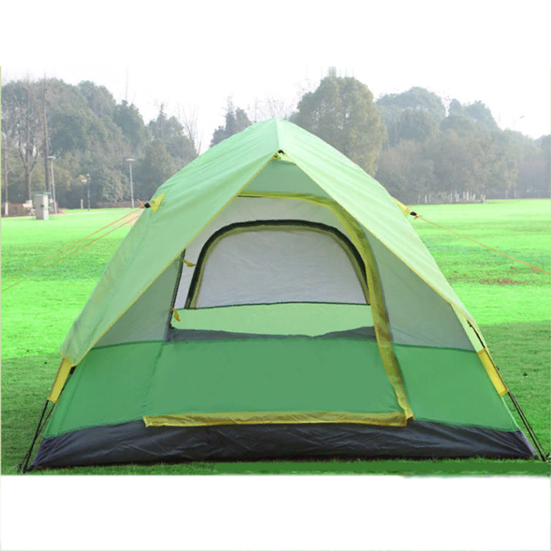 Ship From RU 213*213*114cm Automatic Camping Tent Four-Season Waterproof Hiking Family Tent Quick Pop Up Opening Tents Outdoor 3 4 person double layers outdoor camping tent quick automatic opening waterproof hiking picnic adventure tent four season tent