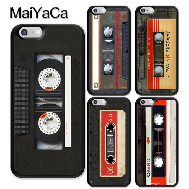d9c61f02fe US $4.13 5% OFF|MaiYaCa Retro Cassette Tape Vintage Soft TPU Skin Phone  Cases For iPhone 6 6S Plus 7 8 Plus X XR XS MAX 5 5S SE Back Cover Shell-in  ...