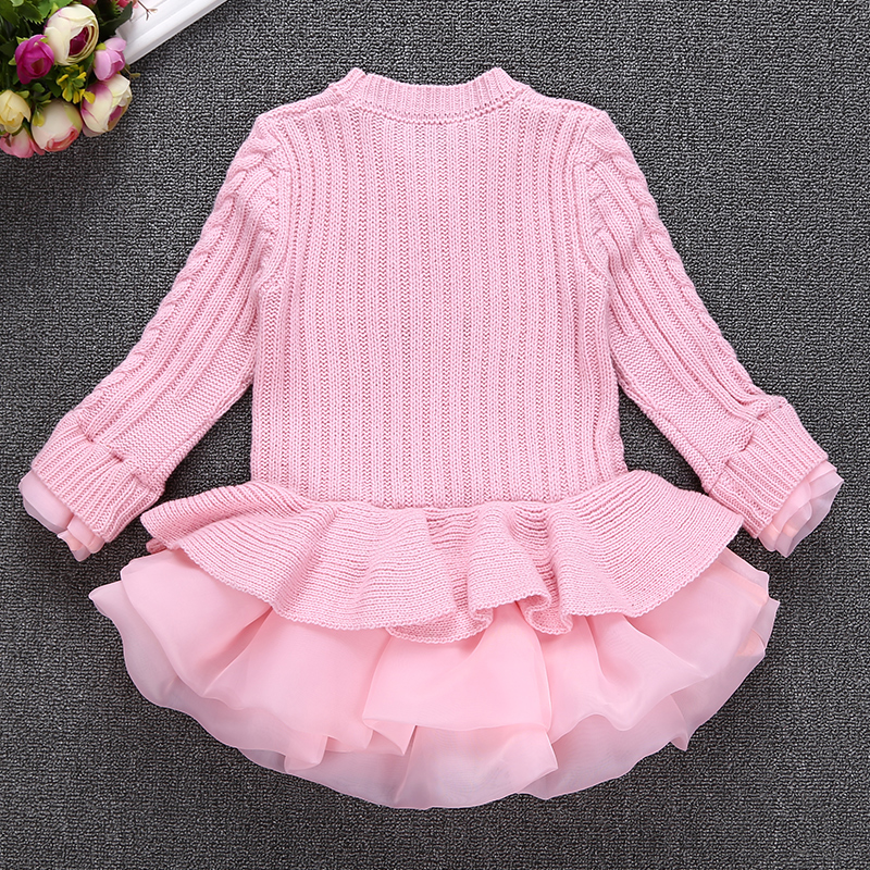 871278890 Korea Lace Knitted Sweaters Warm Dresses Winter Baby Wear Clothes ...
