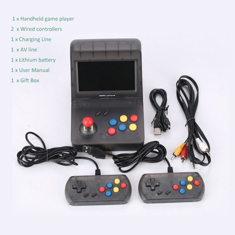 4.3 Inch 64bit Portable Retro Mini Handheld Game Console 3000 Video Games classical Family Game Console de jeu Gift RETRO coolbaby x9 handheld game console portable video game retro mini game multifunctional video game console retro console