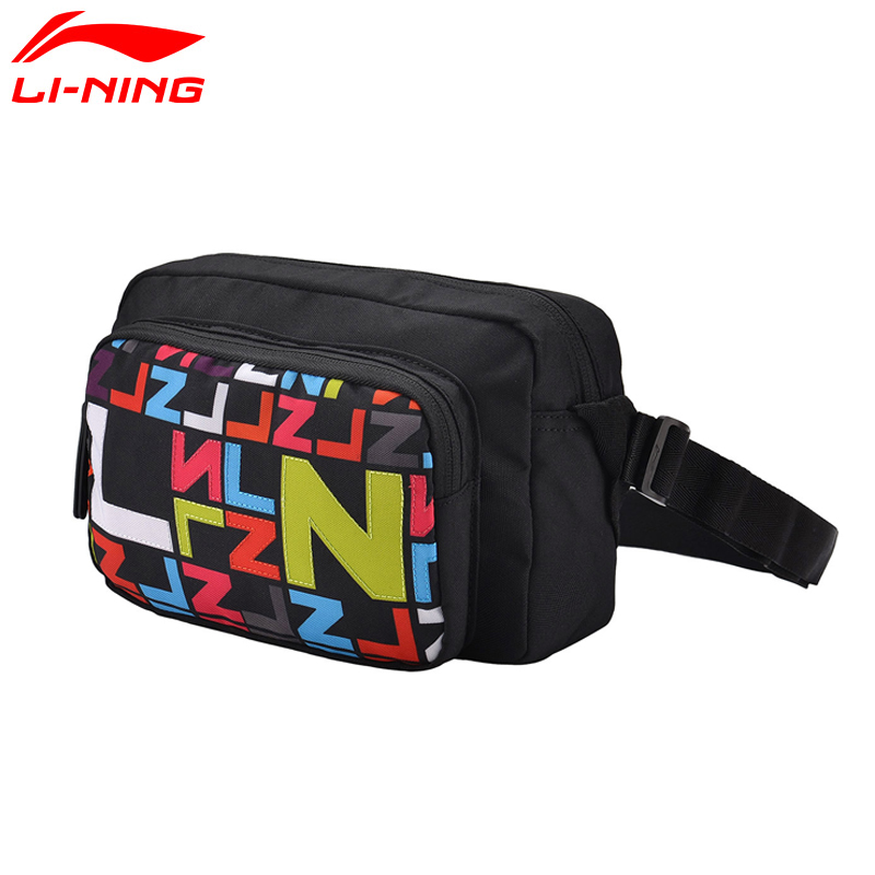 Li-Ning Unisex Urban Sport Shoulder Bag Polyester Classic City Jogging Bag LiNing Li Ning Sports Bag ABDM004 BJY037