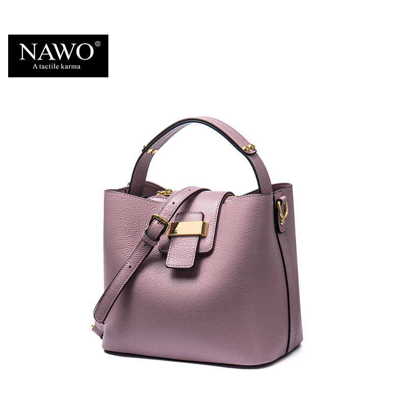 9cf0e2ecea4f NAWO 2017 Designer Women Leather Handbags Bucket Shoulder Bags Ladies  Crossbody Bags Small Cow Real Genuine Leather Women Bags-in Top-Handle Bags  from ...