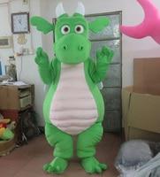 Drago adulto del costume della mascotte con le ali 2 colori per la scelta