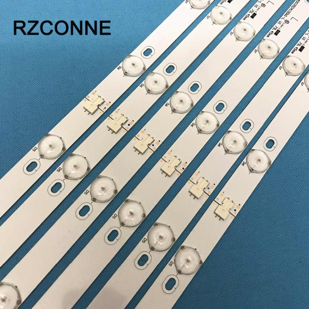 6 set 40 ''775mm * 17mm 10 leds LED Backlight Lampen LED Strips w/Optische Lens fliter voor TV Monitor Panel Nieuwe