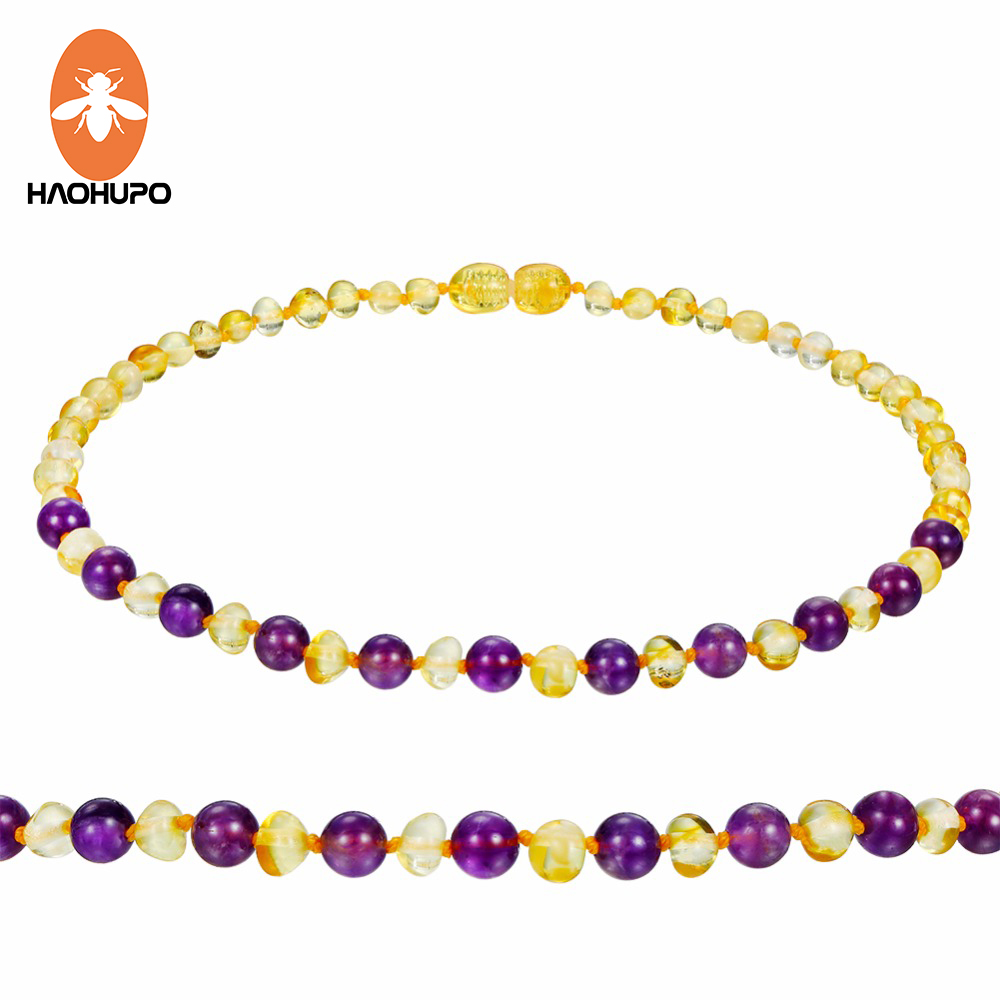 Polished And Raw Handsome Appearance Certified Amber Careful Haohupo Wholesale Baltic Round Amber Beads Gemstone For Jewelry Making With Drilled Hole