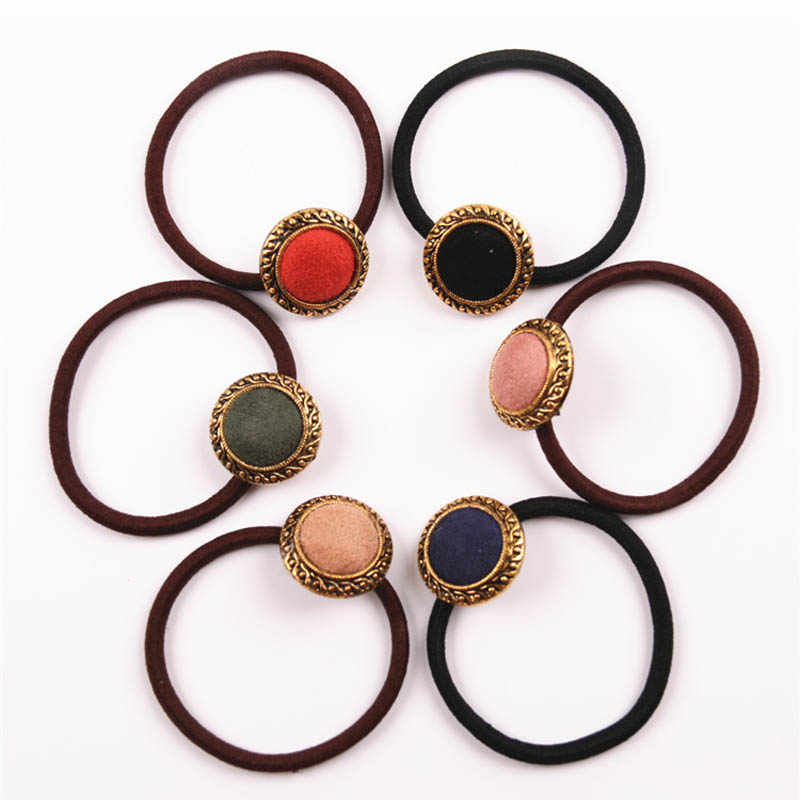 Hot Sale Sweet Girls Korean Style Tiara Rope Elastic Hairbands Rubber Hair Band Hair Accessories