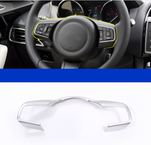 Chrome ABS Steering Wheel Frame Decoration Cover Trim For Jaguar XF F Pace X761 2016 F