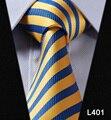 """Stripe Verifique Paisley 3.4 """"100% Mens Gravatas De Seda Tecido Jacquard Clássico do Homem Gravata do laço Dos Homens Do Casamento # L4"""