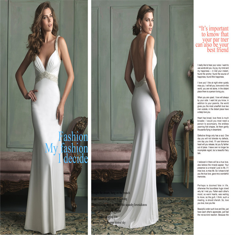 Sleek Backless Wedding Dress