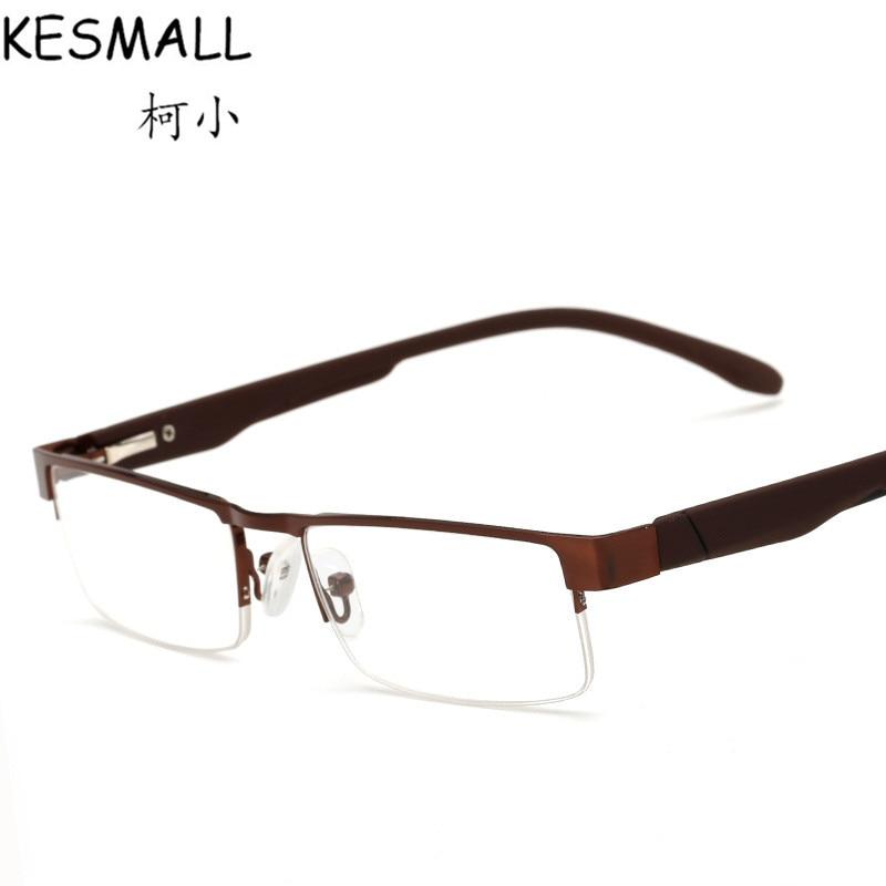 Reading Glasses Brand Fashion Clear Lens Metal Frame Eyewear Men Vintage Eyeglasses Half Rim Old
