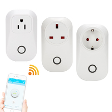 sonoff s20 wifi socket EU/US/UK plug remote control Adapter wireless smart Home Automation power switch wall plug