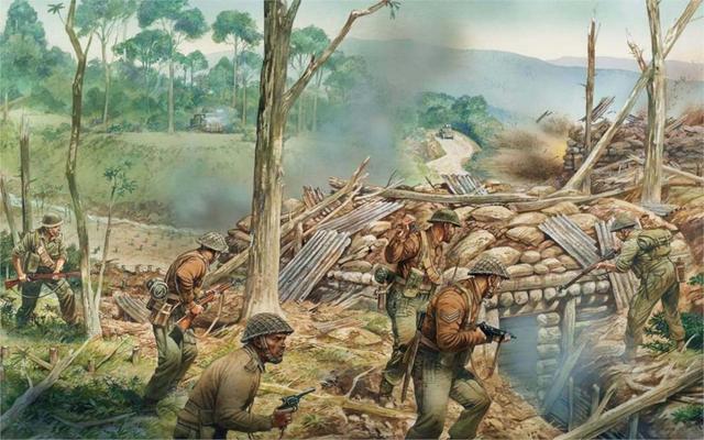 Art Soldiers Kohimskaya Battle April 1944 Watershed