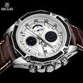 Megir top marca de relojes de lujo para hombre cronógrafo luminoso relogio masculino relojes militares del ejército sport reloj de los hombres masculinos relojes de regalo