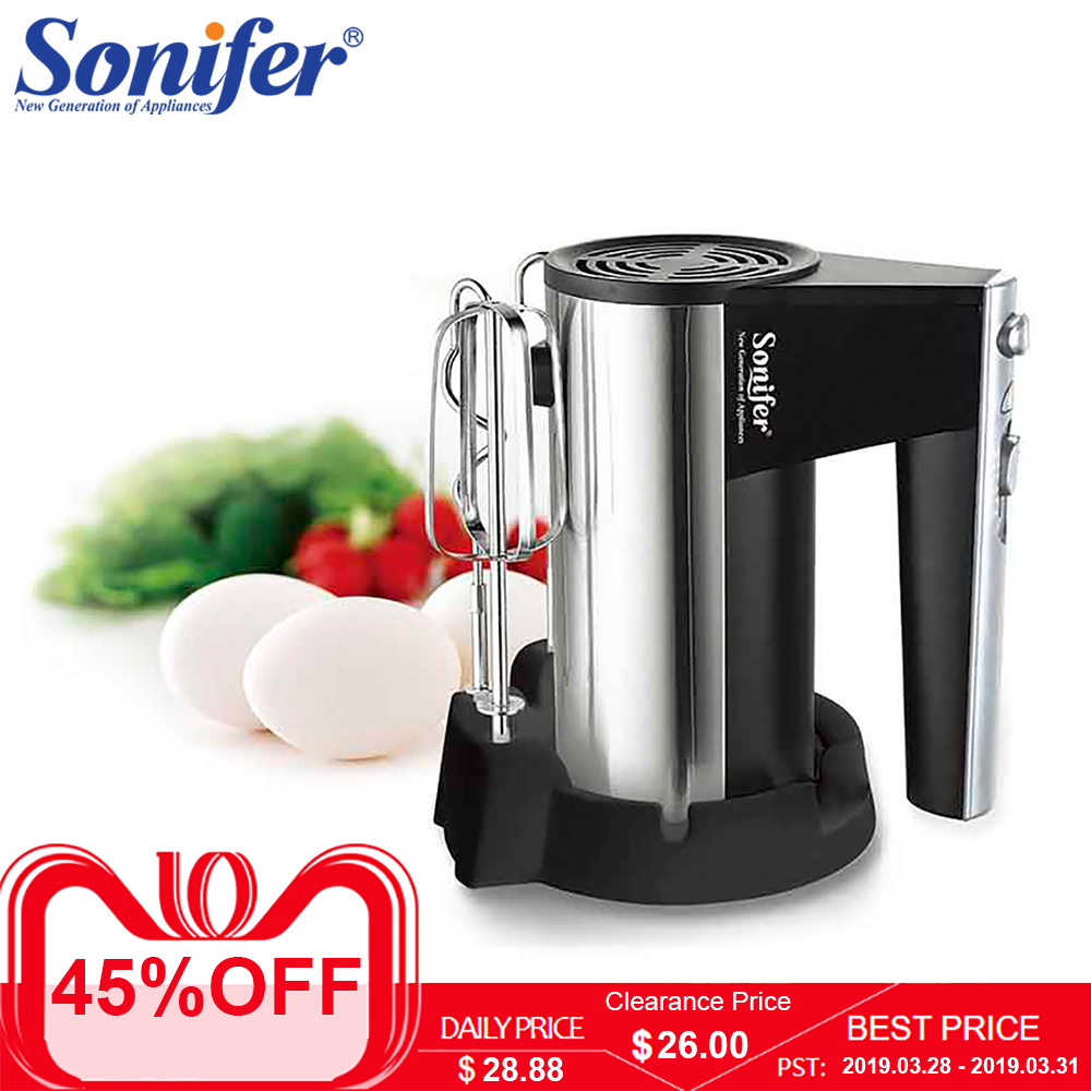300W Stainless steel 5 speeds Food Mixers Dough Mixer Egg Beater 220v Food Blender for Kitchen Sonifer