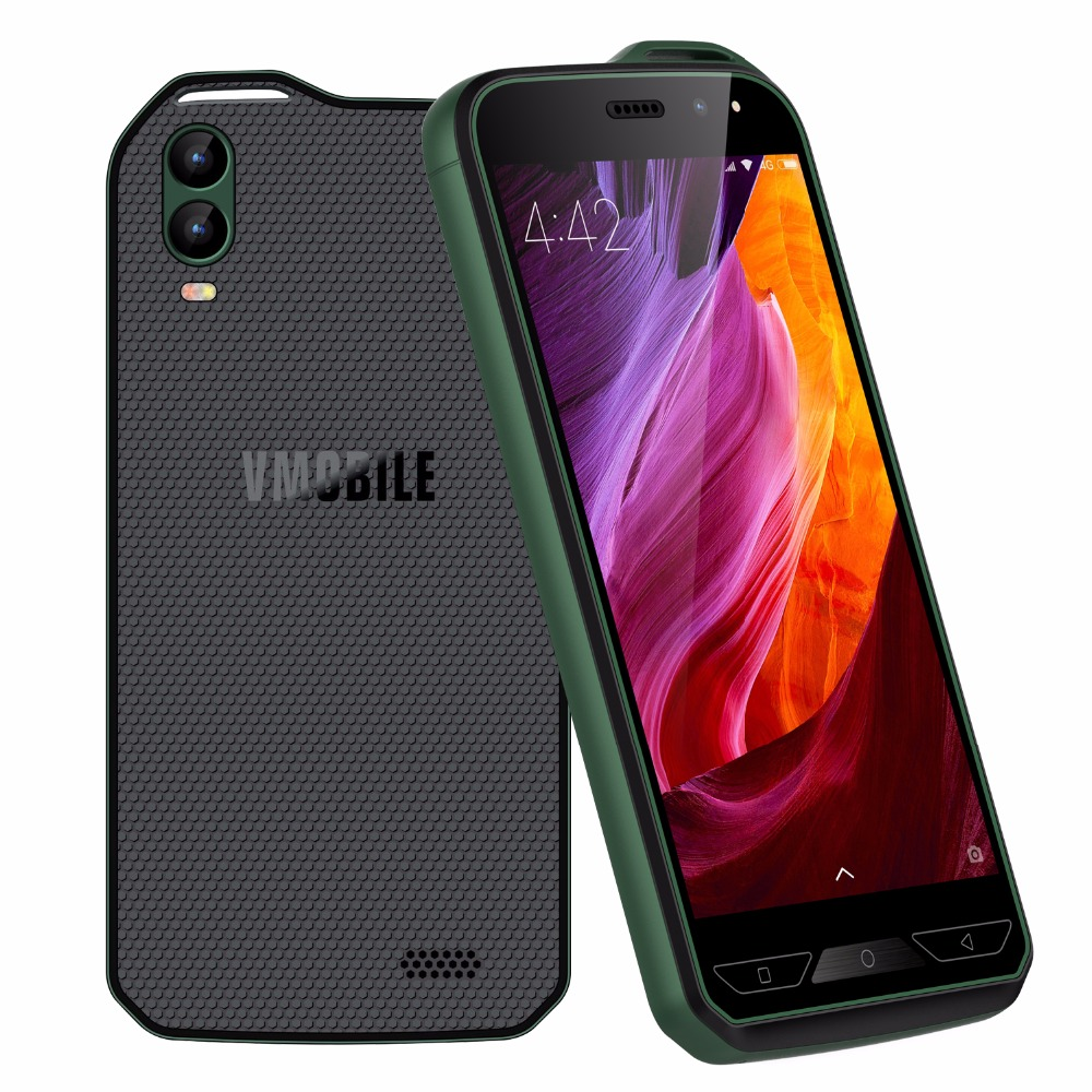 Vmobile X6 Global version unlocked Smartphone Android 7.0 8MP Dual Camera 16:9 HD Display Outdoor sports Quad Core Mobile Phone