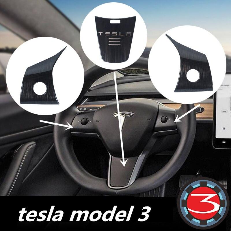 Car Steering Wheel Panel Cover Trim Decoration For Tesla