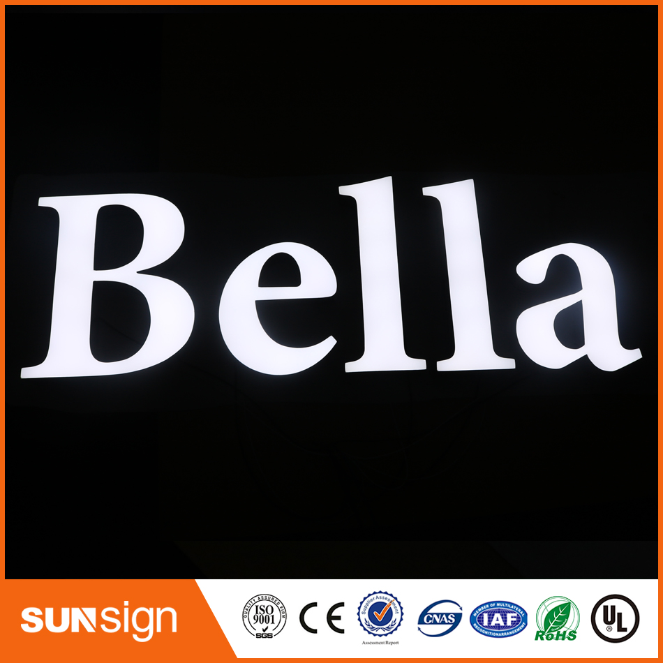 Advertising Frontlit Led Resin Letter Signs