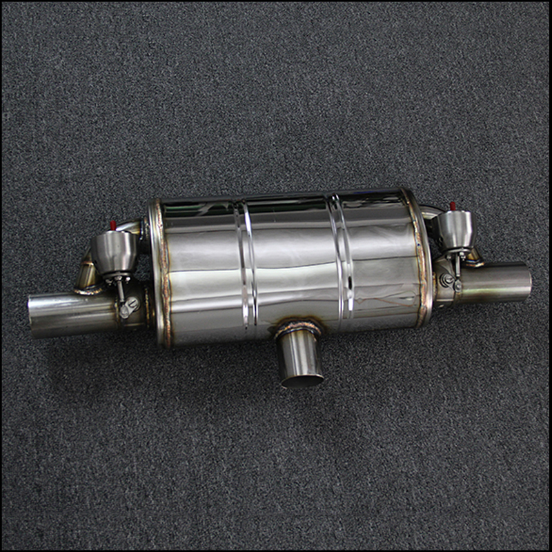 Universal Automobile modified double valve muffler remote control valve exhaust pipe exhaust muffler qe 02 1 4 quick exhaust valve pneumatic valve