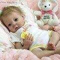 Venda quente Kit Boneca Reborn Bebê Por Atacado em Branco Sem Pintura Kit Boneca Reborn Bebê Cabeça Macio E 3/4 Braços e As Pernas