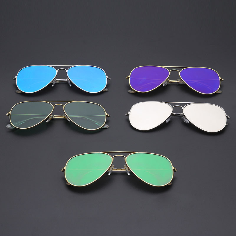 e6e8cfa91877 IMAKEFASHION Classic Style Flat Lens Sunglasses Men Sunglasses Vintage  Women Sunglasses Colorful Coating Mirror Lens JWW083