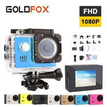 Goldfox 12MP 1080 P HD Спорт Действие Камера 30 м Go Водонепроницаемый Pro Hero 3 Спорт DV велосипед шлем CAM Автомобильный видеорегистратор Мини Cam